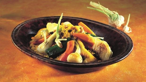Saffranscouscous med grönsaker