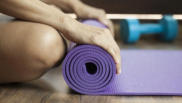 Yogamatta plast